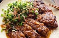 薬味がさわやか!牛こま肉で作る和風ステーキ風