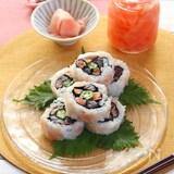 新生姜すし飯の華やか巻き寿司