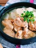 汁まで飲み干す♪『とろとろ大根のうま塩にんにく鶏スープ』
