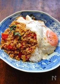 『豆腐でヘルシー☆ガパオライス』