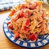 美味しすぎ♡切り干し大根とトマトのピリ辛ごまツナマヨサラダ