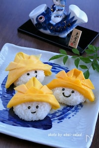 子供の日に☆薄焼き卵で兜帽子の作り方