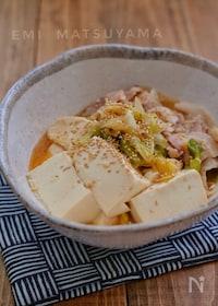 『レンジで簡単!*スタミナ旨味噌肉豆腐*調味料一律大さじ1!』