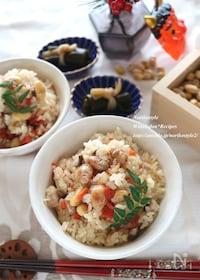 『節分豆リメイク*炒り豆炊き込みご飯』
