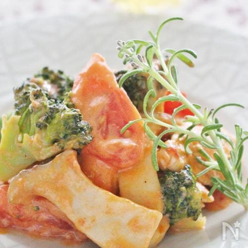 鶏ささみ肉と野菜の簡単オーロラソース炒め