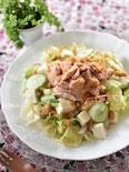 豆腐とツナの胡麻味噌サラダ