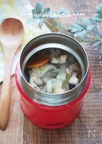 『【スープジャー】白菜と鶏肉の和風スープ。』
