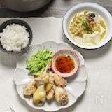 ほろほろ鶏手羽中&中華スープ*ほったらかしでメインと汁物♪