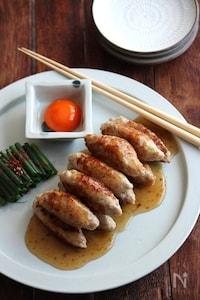 甘辛タレの鶏つくね。