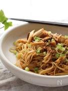 【献立いろいろみそ】お箸で食べる。きのこの和風みそパスタ