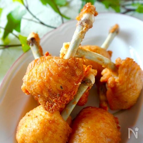 包丁いらずハサミで簡単☆鶏手羽先【チューリップの作り方】