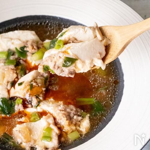 レンジでセルフ麻婆豆腐