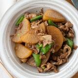 『大根と豚肉の甘辛炒め煮』#ご飯が進む#簡単#味しみ