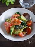 トマトときゅうりのネギだくサラダ