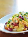 カラフルお豆と竹輪のポテトサラダ