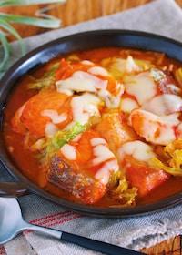 『『チーズタッカルビ風♡鮭とキャベツの辛味噌チーズ焼き』』