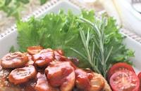 鶏肉のソテー、ナポリタン風味