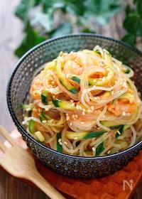 『タイ風春雨サラダ【#ナンプラー不使用#焼肉のたれ#常備菜】』