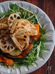 焼き根菜の和サラダ。