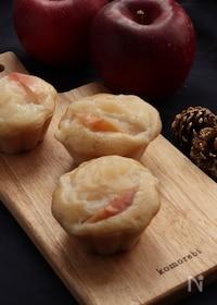 『砂糖不使用なのにほんのり甘い。米粉で作る煮りんごの蒸しパン。』