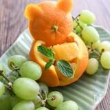 【簡単で可愛いフルーツカット】クマさんオレンジ