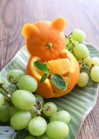 『【簡単で可愛いフルーツカット】クマさんオレンジ』