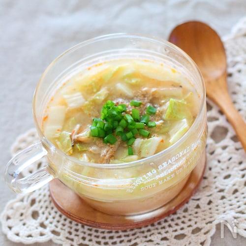 【電子レンジ3分】ごまみそスープ
