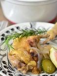 鶏の骨付きもも肉の夏野菜のイチジク煮
