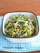 豆苗とツナの和風コールスローサラダ
