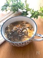 トロトロもずくとフワフワたまごのスープ♡