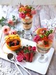 女の子のお祝いに!華やか🌸お寿司パフェ