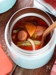 トマトジュースdeミネストローネ【#レンジ#スープジャー】