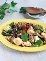 包丁とまな板不要!豆腐とナスとピーマンの肉味噌炒め*