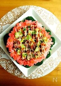 『母の日にきらきらっと華やかケーキ寿司』
