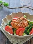 たたききゅうりとトマトのキムチ納豆マヨサラダ