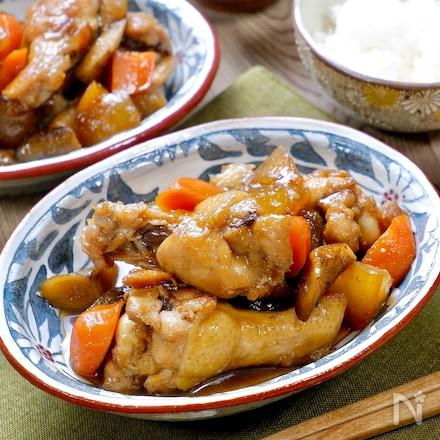 ご飯が進むボリュームおかず♡『手羽元と根菜の甘辛照り煮』