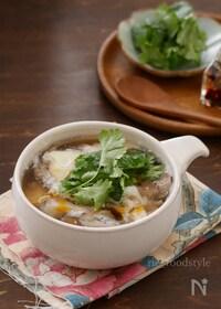 『酸味と辛味がたまらない!レンジでつくる簡単!酸辣湯風スープ』