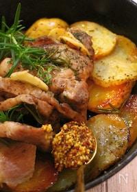 『フライパンで簡単♡イタリアン豚肉ロースト』