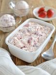 いちごヨーグルトアイス。混ぜて冷凍するだけの簡単スイーツ♪