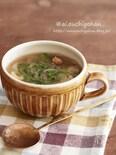 セロリのスープはパンチを効かせて食べやすく♡
