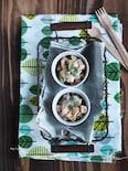 海老とアボカドとパプリカのタルタルサラダ