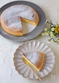 『炊飯器で簡単!しゅわしゅわスフレチーズケーキ』