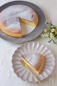 炊飯器で簡単!しゅわしゅわスフレチーズケーキ