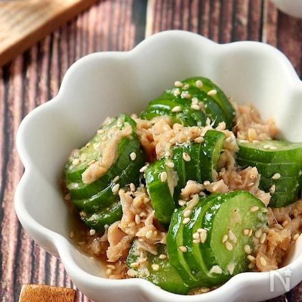 即席♪きゅうりとツナのやみつき中華風サラダ