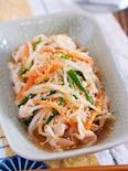 豚肉ともやしのごまポン酢和え【#作り置き#湯かけ#お弁当】