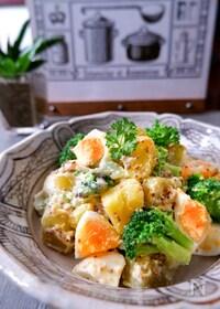『茹でて混ぜるだけ【さつま芋・ブロッコリー・ゆで卵マヨサラダ】』