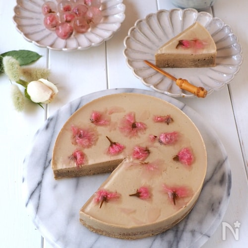 桜香る🌸ほうじ茶ムース
