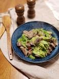 低温調理した砂肝とキャベツのペペロンチーノ