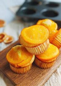 『見た目もかわいい♡オレンジマフィン』