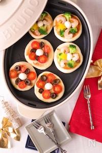 アンチョビソースで作る♪2種のミニリースピザ